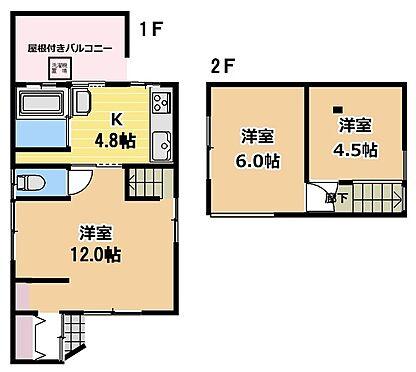 マンション(建物全部)-松戸市稔台7丁目 戸建て 間取り3DK