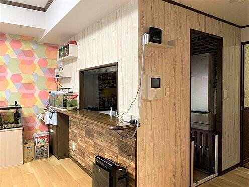 区分マンション-稲沢市祖父江町祖父江北川原 対面式のキッチンになっているので、ご家族のお顔を見ながらお料理出来ます!