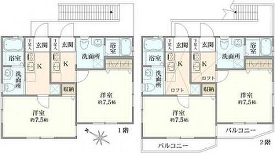 アパート-横浜市中区豆口台 間取り