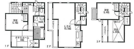建物全部その他-逗子市池子2丁目 4LDK(1階2部屋、2階にリビング、3階洋室2部屋)