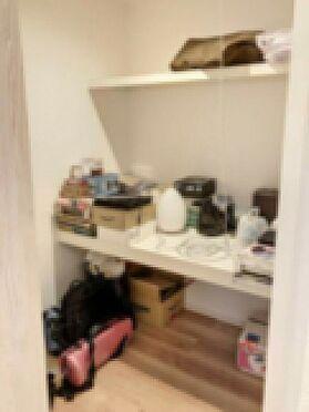 戸建賃貸-北名古屋市西之保立石 棚付きで片付けしやすい収納です。