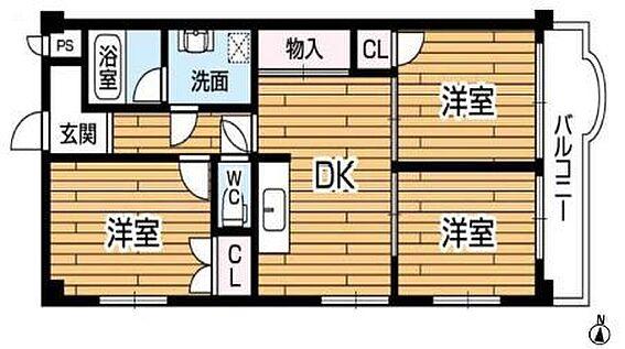 マンション(建物一部)-神戸市中央区中尾町 ゆとりあるファミリータイプの間取り