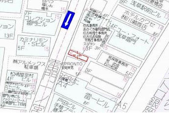 店舗付住宅(建物全部)-台東区雷門2丁目 地図
