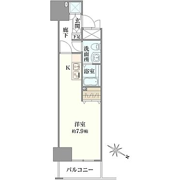 マンション(建物一部)-横浜市西区桜木町6丁目 間取り