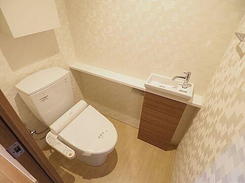中古マンション-千葉市美浜区稲毛海岸5丁目 手洗い器付きのトイレです!