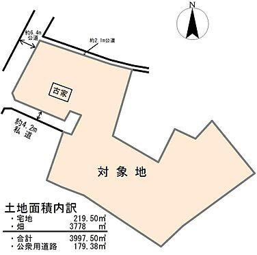 土地-東松山市大字柏崎 区画図