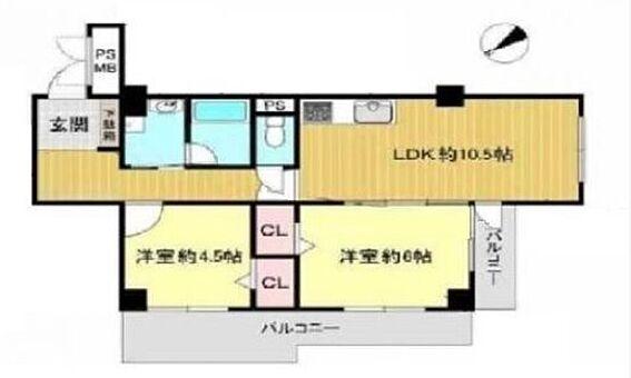 マンション(建物一部)-大阪市東住吉区桑津1丁目 広々とした2LDK