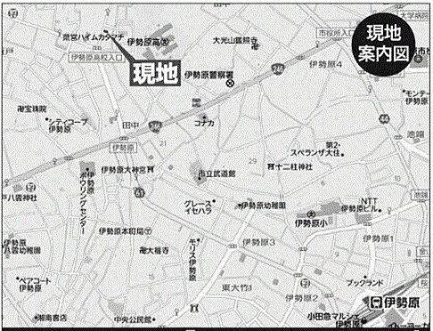 倉庫-伊勢原市田中 地図