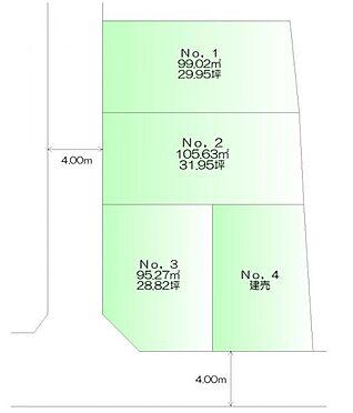 土地-仙台市青葉区高松1丁目 区画図