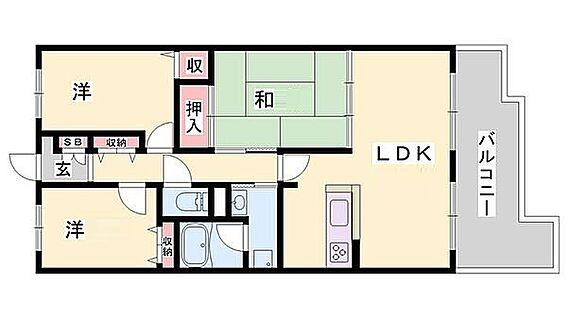 マンション(建物一部)-姫路市飾磨区加茂 収納が豊富でファミリー世帯には嬉しい間取り