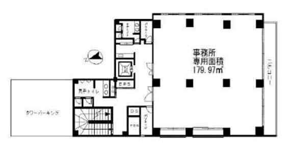 事務所(建物一部)-台東区東上野1丁目 間取り