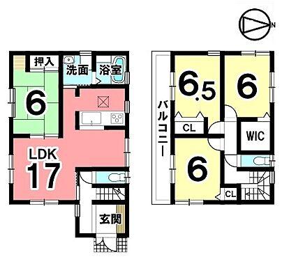 戸建賃貸-磯城郡三宅町大字伴堂 全室6帖以上の広さを確保。収納スペースも全居室にもうけております。キッチン、洗面等を一か所に集めた便利な配置です。