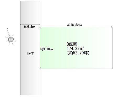 土地-仙台市若林区上飯田1丁目 区画図