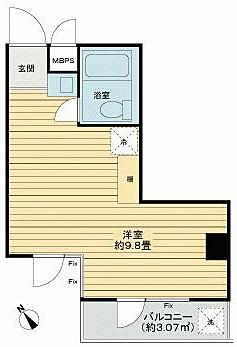 マンション(建物一部)-大田区上池台4丁目 間取り