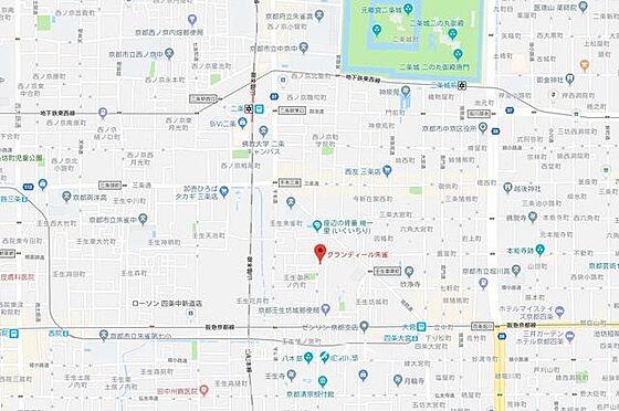 マンション(建物一部)-京都市中京区壬生坊城町 周辺地図。