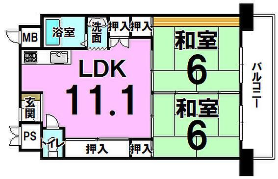 マンション(建物一部)-大阪市東住吉区今林4丁目 間取り