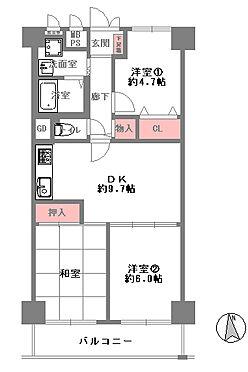 中古マンション-大阪市東成区中道2丁目 間取り