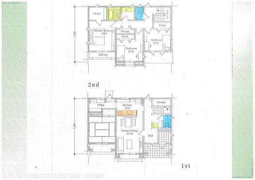 土地-伊勢市二見町西 プラン2:施工面積36.36坪の時:建物価格2000万円