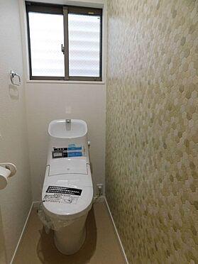 新築一戸建て-名古屋市北区大杉1丁目 トイレも二箇所あるので生活リズムのかさなる朝も安心です。