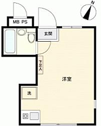 マンション(建物一部)-藤沢市大鋸2丁目 間取り