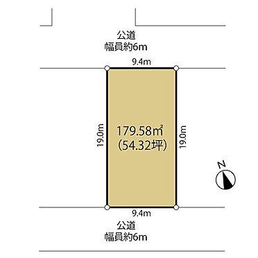 土地-町田市小山ヶ丘5丁目 南北2方に接した陽当り開放感のある敷地