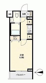 マンション(建物一部)-小金井市本町3丁目 間取り