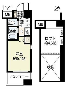 マンション(建物一部)-神戸市中央区脇浜町3丁目 間取り