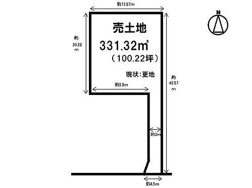 土地-桜井市大字西之宮 区画図