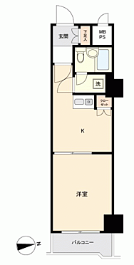 区分マンション-新宿区新宿6丁目 間取り