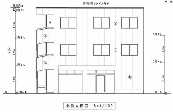 マンション(建物全部)-川越市大字小堤 北側 立面図