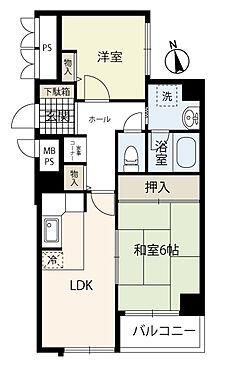 区分マンション-大阪市中央区東高麗橋 間取り