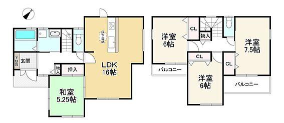 新築一戸建て-神戸市北区北五葉6丁目 間取り