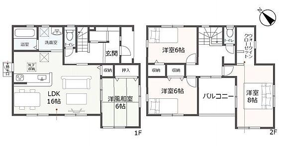新築一戸建て-豊田市御船町 心地よい広々とした開放的なLDKです。カウンターキッチンでぜひご家族と沢山会話をしてください♪