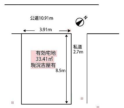 土地-中央区月島1丁目 区画図