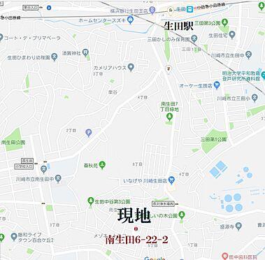 土地-川崎市多摩区南生田6丁目 地図