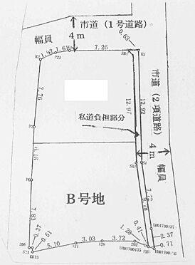 土地-豊中市上野東2丁目 区画図