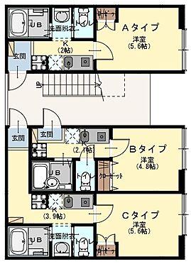 アパート-昭島市玉川町3丁目 1階〜3階