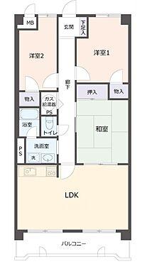 マンション(建物一部)-神戸市兵庫区滝山町 3点セパレートである他、室内に洗濯機置き場があるので便利。