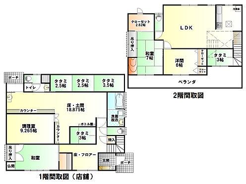 店舗付住宅(建物全部)-栃木市藤岡町藤岡 間取り