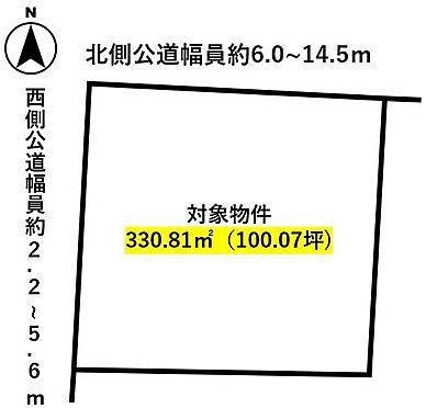 土地-知多郡武豊町字多賀7丁目 区画図