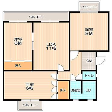 アパート-いなべ市大安町石榑南 バルコニーが各部屋に有り風通し・陽当たり