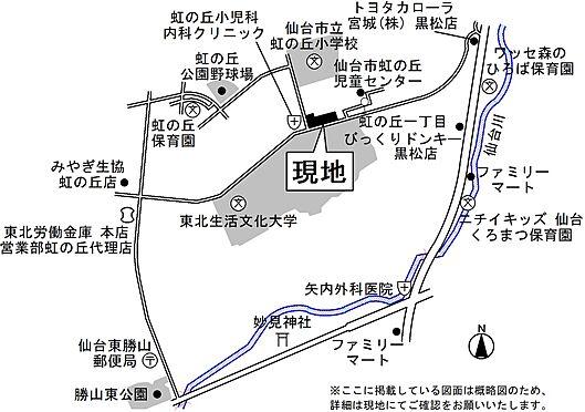 区分マンション-仙台市泉区虹の丘1丁目 地図