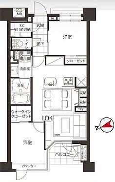 中古マンション-中央区新富1丁目 50.68m2の2LDK