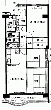 マンション(建物一部)-松戸市新松戸北2丁目 間取り