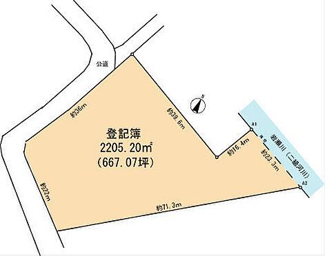 土地-富津市岩瀬 区画図