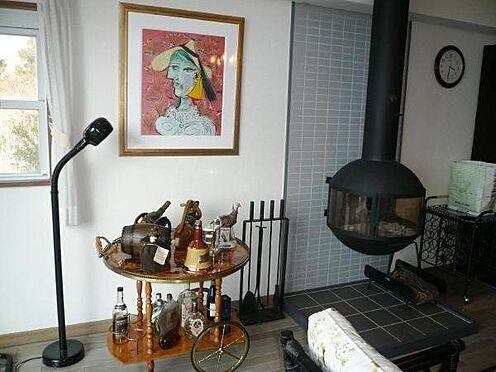 中古マンション-田方郡函南町平井 リゾートマンションでも珍しい薪ストーブがあります。