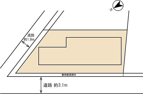 アパート-横浜市神奈川区入江1丁目 公道角地に立地しています。