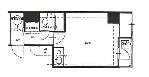 マンション(建物一部)-広島市中区河原町 間取り