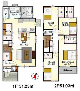 新築一戸建て-福岡市早良区野芥4丁目 わたし好みの住宅で快適な生活を。壁や床の色味が違うだけでお部屋の印象をガラリと変えることが出来ます。