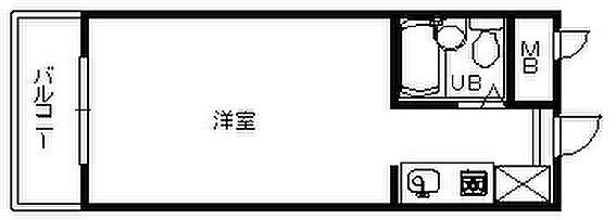 中古マンション-福岡市中央区今泉1丁目 間取り